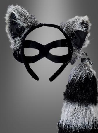 Raccoon Kit Eyemask, Ears and Tail