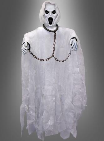 Schreiender Geist Halloween Deko weiß 100 cm
