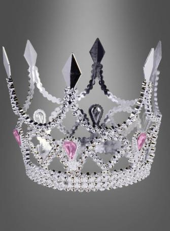 Krone silber Prinzessin Kinder
