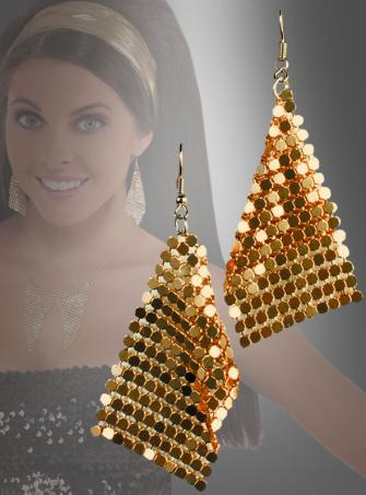 Disco Fever Earrings gold