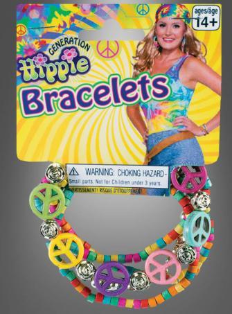 Hippie Peace Armband bunt