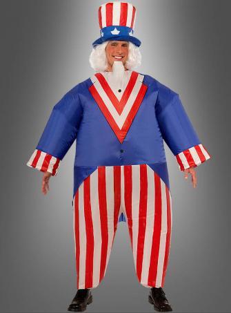 Aufblasbares Uncle Sam USA Kostüm