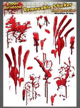Blutige Fliesenaufkleber