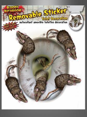WC Sticker Ratten Halloweendekoration