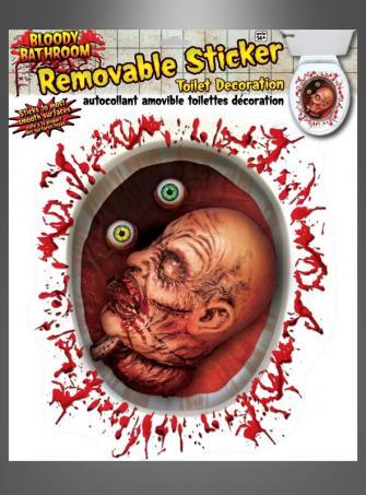 Horror Toilet Sticker