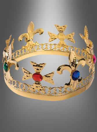 Königskrone aus Metall in gold