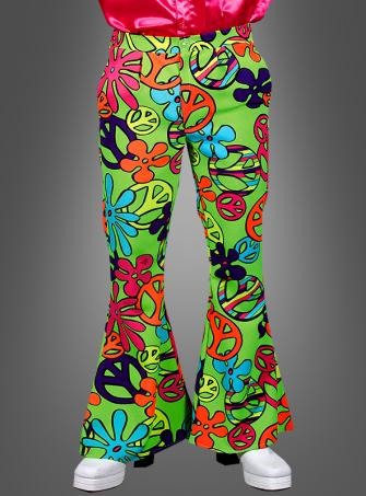 Men Neon Peace green Flares