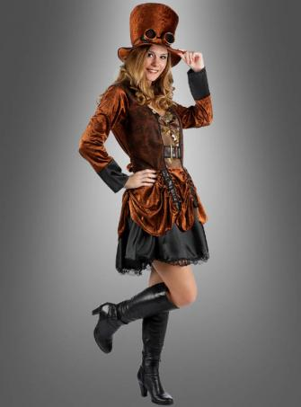 Steampunk Fashion Kleid braun