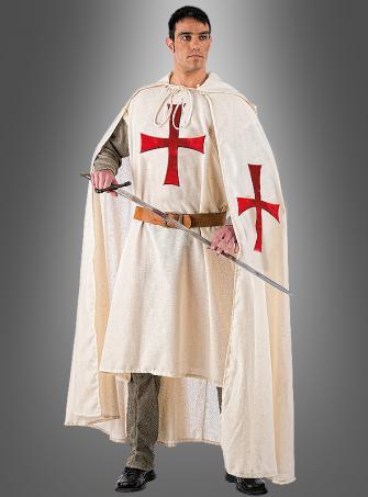 Deluxe Mittelalter Templer Kostüm