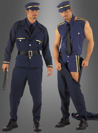 Sexy Polizist Männerstrip Kostüm