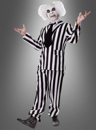 Lottergeist Kostüm schwarz weiß