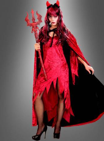 Rotes Kleid klassische Teufelin