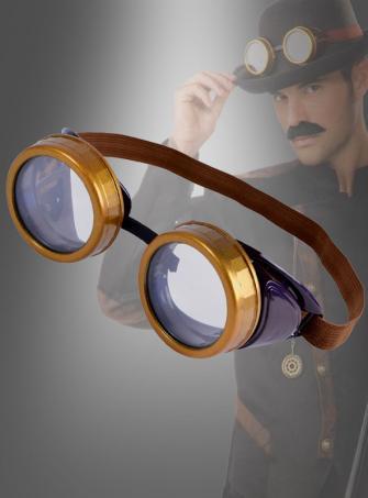 Steampunk Schweißerbrille gold