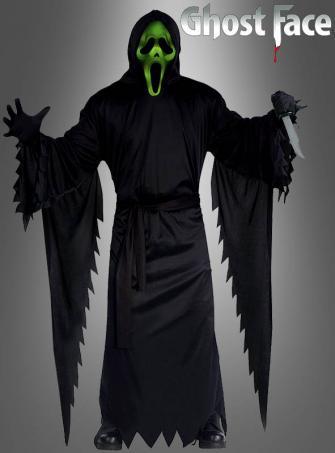 Scream Kostüm mit leuchtender Maske