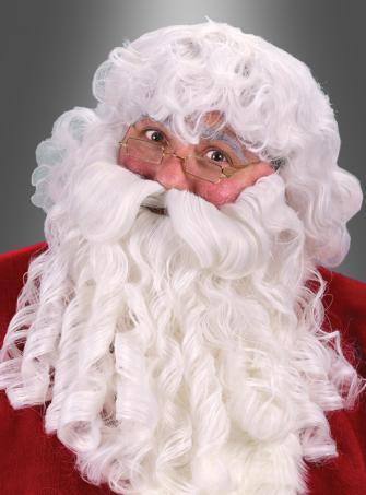 Deluxe Santa Nikolaus Perücke mit Bart