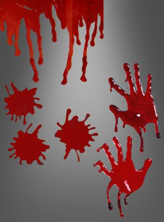 Fensterdeko Blut
