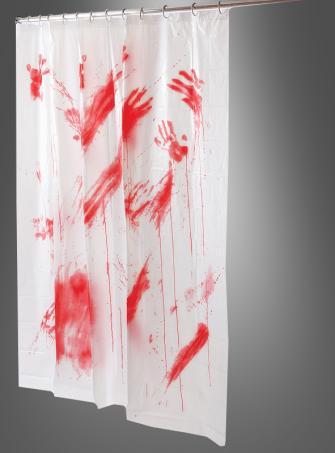 Blutiger Duschvorhang Horrordekoration