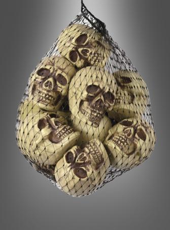 12 Totenschädel Halloweendeko