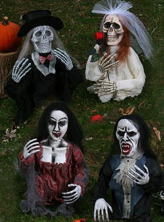 Gartendekoration Horrorfiguren