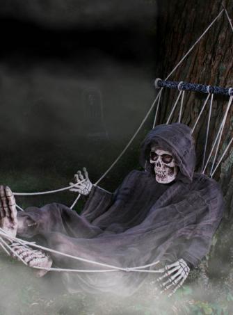 Skelett in Hängematte 170x40 cm
