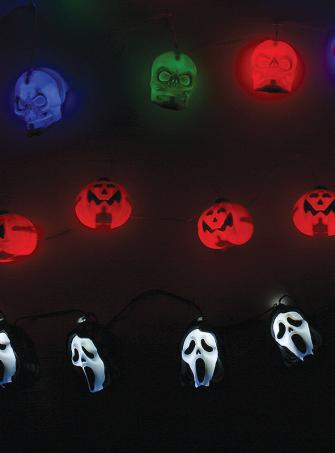 Halloween Lichterkette in 3 Varianten mit Sound