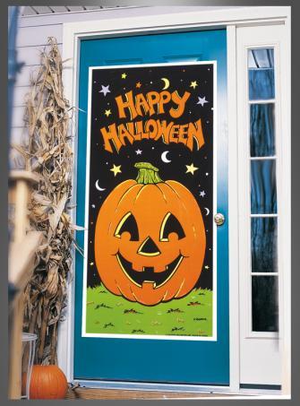 Door cover Halloween Pumpkin