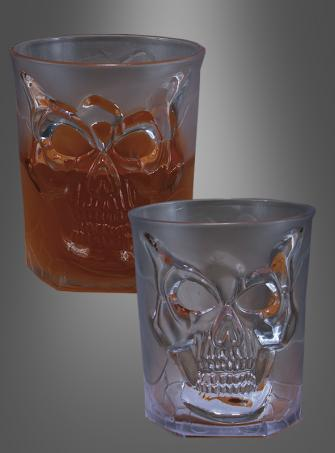 Halloween Scotch Glas mit Schädel