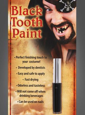 Zahnschwarz für Fasching