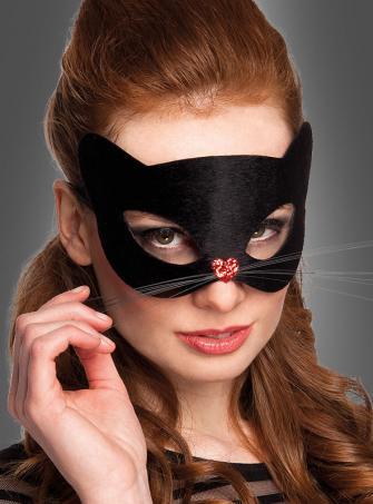 Augenmaske schwarze Katze