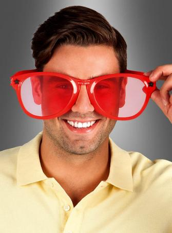 Riesige Sonnenbrille rot