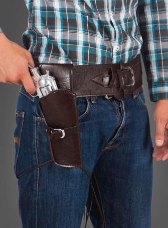 Cowboy Pistolenholster und Gürtel