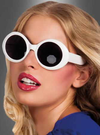 Jackie Glasses white 60s