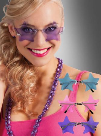 Disco Sternenbrille Schlagerstar