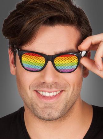 Partybrille Regenbogen