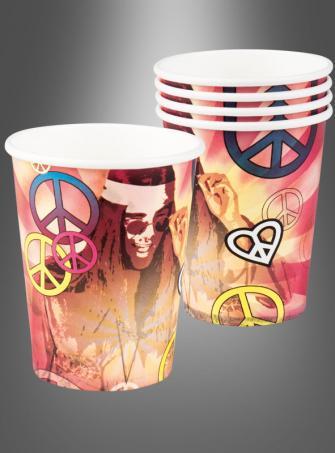 Hippie Paper Cups 6 pc.