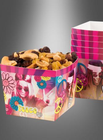 Hippie Party Pappschalen 6er Pack