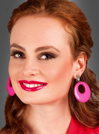 Retro Clip Earrings pink