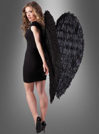 Gigantische schwarze Flügel 120 cm