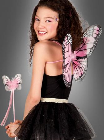 Schmetterlingsflügel mit Stab