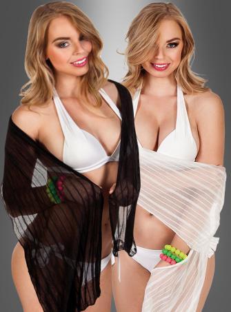 Schal Halstücher schwarz oder weiß