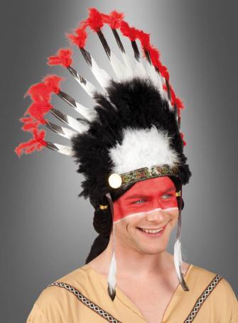 Federschmuck Indianer Häuptling