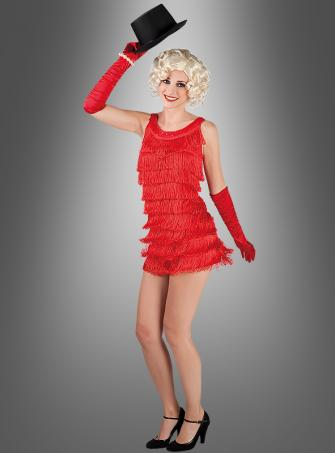 Fringed Dress 20s Diana red
