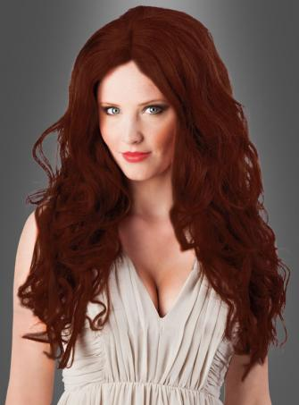 Auburn Longhair Wig with Curls