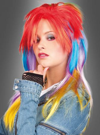 80s colorful Wig
