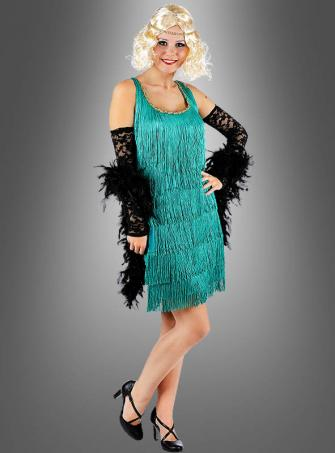 Emerald Flapper Dress 20s