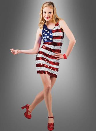 Sequin Dress USA Flag