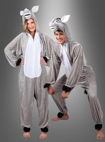 Esel Tierkostüm für Erwachsene Unisex