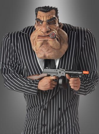 Gangsterboss Kostüm mit Maske Mafia