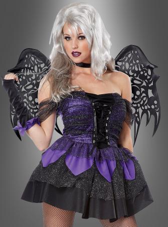 Schillernde Halloween Fee mit Flügel