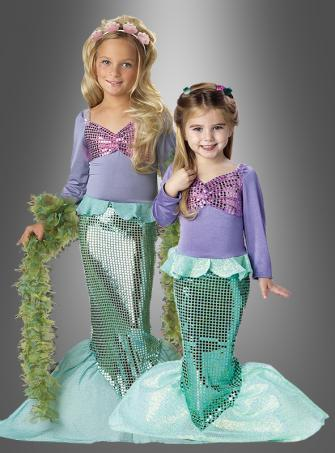 Bezaubernde Meerjungfrau Kostüm Kinder Nixe